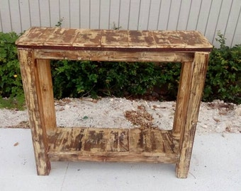 distress painted console table country chic sofa table cottage chic narrow console table - Thin Console Table