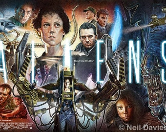 Aliens 30th Anniversary poster illustration - Limited Edition A1 print /30