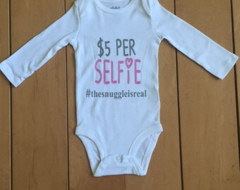 Selfie Onesie, Funny Onesie, New mom gift, Funny baby shower gift