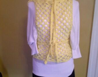 Yellow Overlay  Crochet Tunic