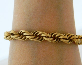 Vintage Sarah Coventry Chain Link Bracelet, Chain Maille, Curb Link, Gold Tone, Signed, 70s Bracelet, 70s Jewelry, Free Shipping