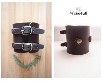 New Stylish Bracelet, Men Women Bracelet, handmade Genuine Leather wide bracelet (wristband, bangle)