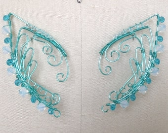 Wire Elf Ears in Teal