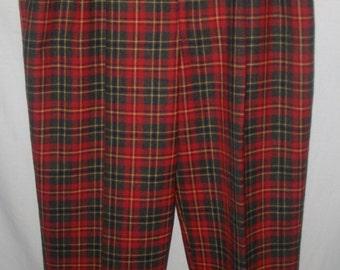Vintage 1970's Corbin Ltd Women's Plaid Pants Sz 32/30