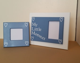 blue picture frame, picture frame set, picture frame collage, wood picture frame, white picture frame, picture frame quotes, 3 x 3 frame