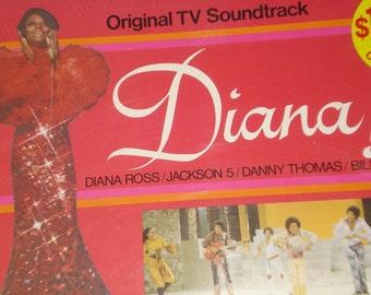 SEALED Diana Ross vinyl record album, Jackson 5 vintage vinyl record
