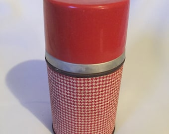 Aladdin Red and White Patterned Thermos