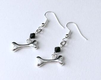 Bone Earrings, Bone Jewelry, Halloween Earrings, Gothic Jewelry, Halloween Jewelry, Gothic Bone Earrings, Skeleton Earrings