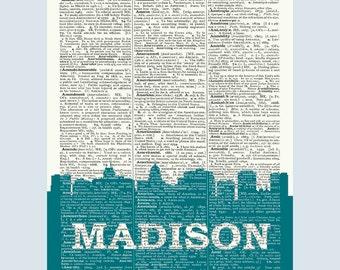 Madison Skyline, Madison Poster, Madison Decor, Madison Print, Madison Wall Art, Madison Gift, Madison Wall Decor, Madison Wisconsin