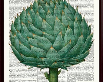 Artichoke Poster, Kitchen Wall Decor, Artichoke Print, Kitchen Art, Vegetables Art Print, Kitchen Decor, Kitchen Poster