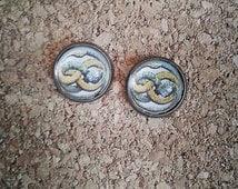 The Neverending Story Auryn Ouroboros bronze earrings