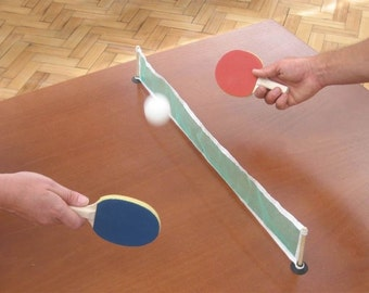 Mini Desktop Table Tennis Set