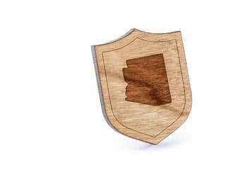 Arizona Lapel Pin, Wooden Pin, Wooden Lapel, Gift For Him or Her, Wedding Gifts, Groomsman Gifts, and Personalized