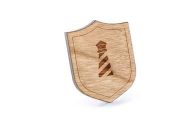Lighthouse Lapel Pin, Wooden Pin, Wooden Lapel, Gift For Him or Her, Wedding Gifts, Groomsman Gifts, and Personalized