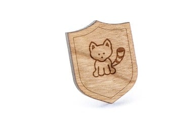 Red Panda Lapel Pin, Wooden Pin, Wooden Lapel, Gift For Him or Her, Wedding Gifts, Groomsman Gifts, and Personalized