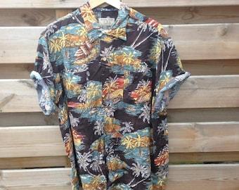 SALE - Mens   Vintage asian print shirt   Size XL - SALE