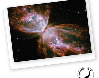 Butterfly Nebula Greeting Card, Blank Card,