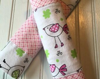 2pk Pink Birdie Burp Cloths