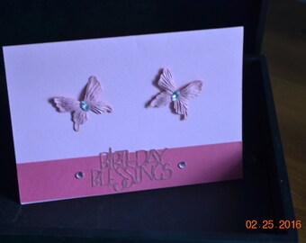 One of a kind hand made Birthday card
