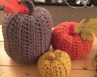Crochet Pumpkin Set
