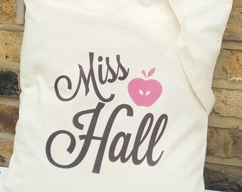 Personalised tote bag great gift for teachers. Thank you gift for teachers.