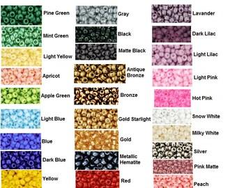 TOHO 11/0 round Seed Beads 10g, 28 Colors tr-11-121, tr-11-122, tr-11-49, tr-11-909, tr-11-55,