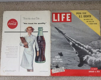 Vintage - Life Magazine - January 4, 1954 - Cover: Power - US will double supply in 25 years.