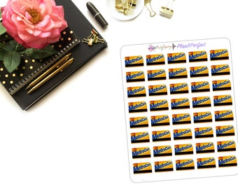Metro Card Planner Stickers/Metro Card Stickers/Train Card Stickers. Perfect for your planning and scrapbooking needs!