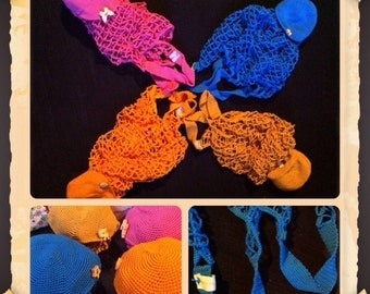 All cotton mesh foldable bag