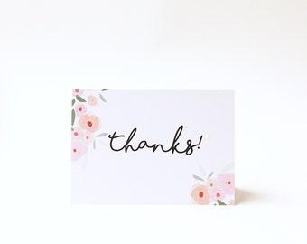 "Card ""thanks"""