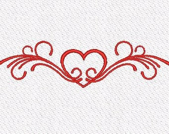 Heart machine embroidery designs
