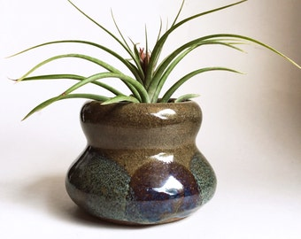 olive hourglass studio pottery planter