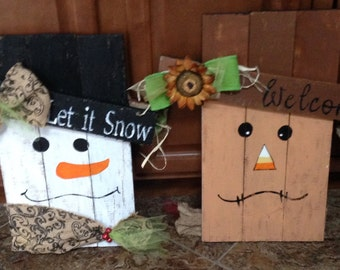 Snowman /scarecrow hanging