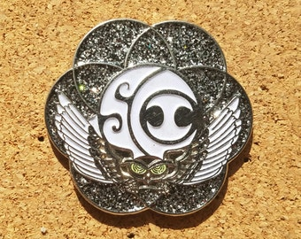 Glow in the Dark SCI Electric Forest Pin