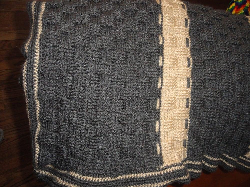 Basket Weave Afghan Crochet Pattern : Crocheted Basket Weave Afghan