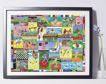 Olympic Summer Games Art Painting PSNY - Home Decor