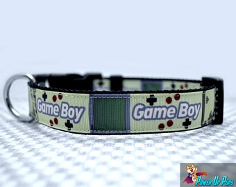 "Gamer Pup Gameboy 1"" Wide Dog Collar"