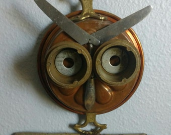 Upcycled Owl Wall Art