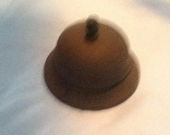 Antique desk bell, rusty, good ringer, works great
