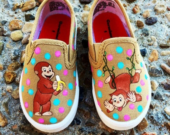 Curious George Shoes - Hand Painted