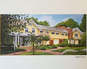 UNC Big Yellow House Print