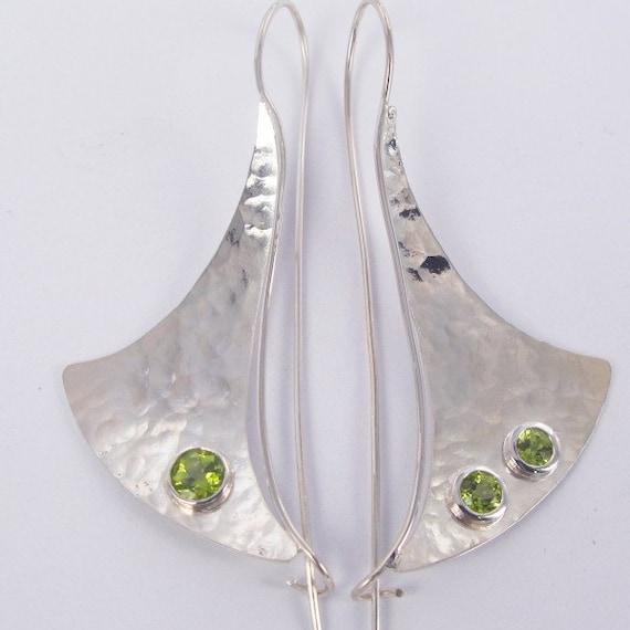 Peridot Sail Earrings
