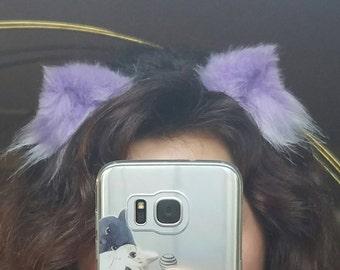 Itty bitty pastel lilac kitten ears