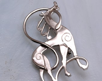 Beautiful slylised horse brooch