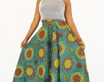 African A-Line Maxi Skirt (Sundaze)
