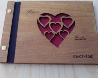 Customized Book of Honour or Attendance for weddings, christenings, events