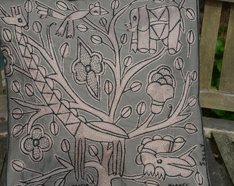 """Shangaan Embroidery cushion cover 45x45cm (18x18"""") tree of life"""