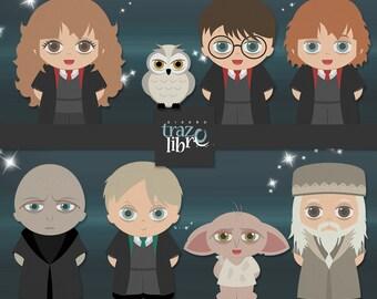 Digital CLIP ART: Harry Potter Clipart | INSTANT Download | digital paper | digital clip art | digital clipart | Scrapbooking | png