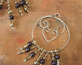 Egyptian  Silvered copper earrings