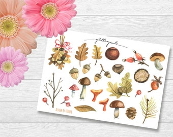 Autumn Forest Planner Stickers
